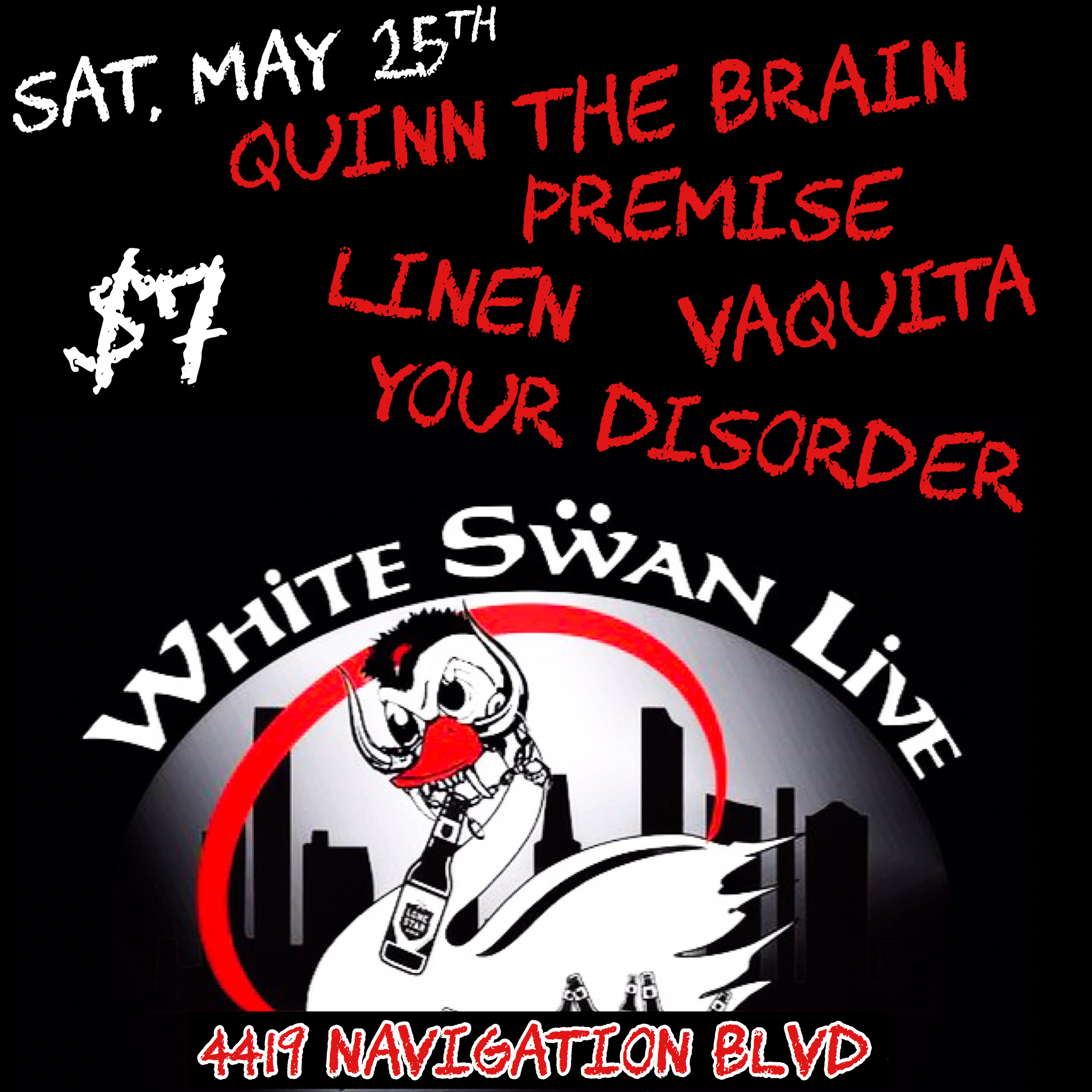 quinn the brain, white swan live